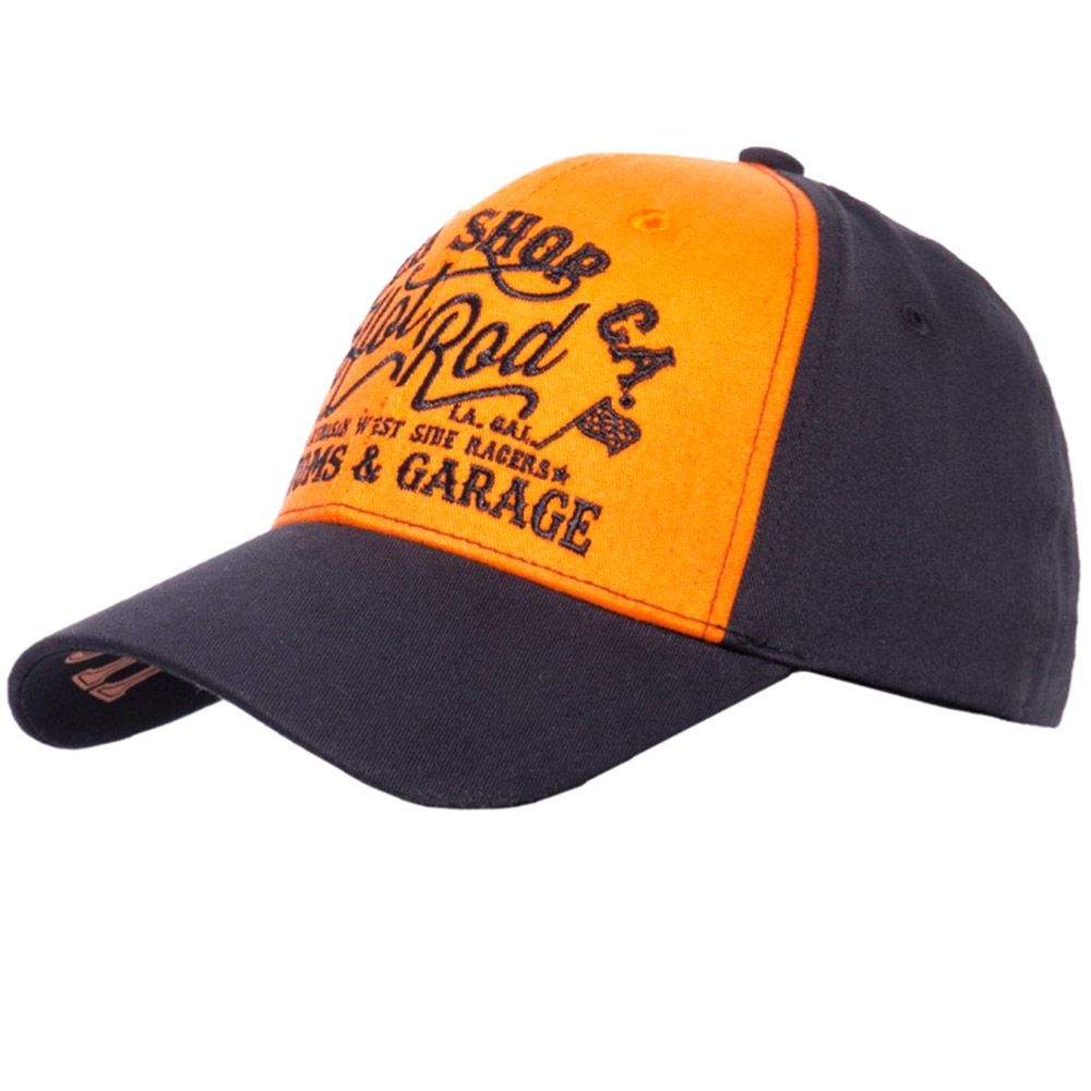 King Kerosin Gorra Speed Shop CA Orange/Black