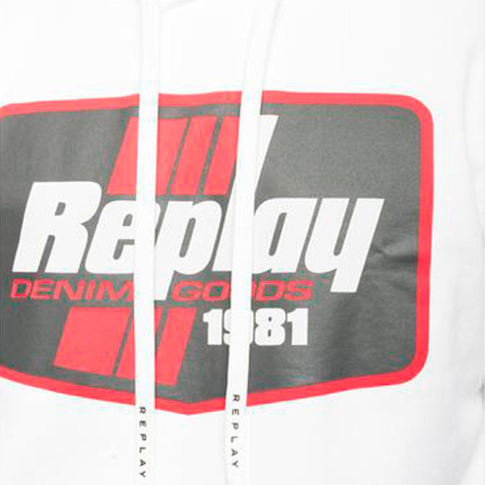 Replay Sudadera Denim Goods White