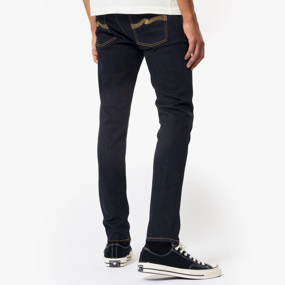 Nudie Jeans Skinny Lin Dry Deep Orange