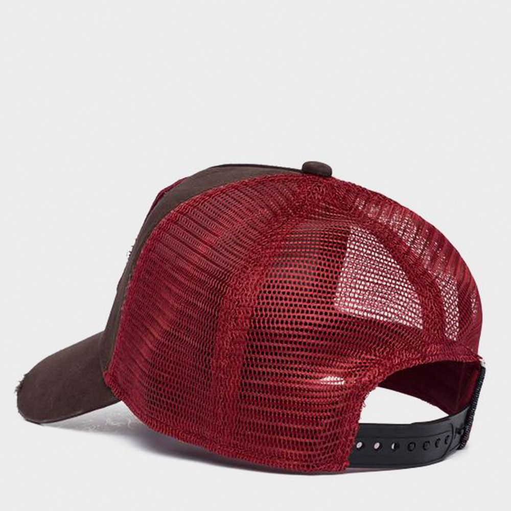 Replay Gorra Trucker Brown/Red