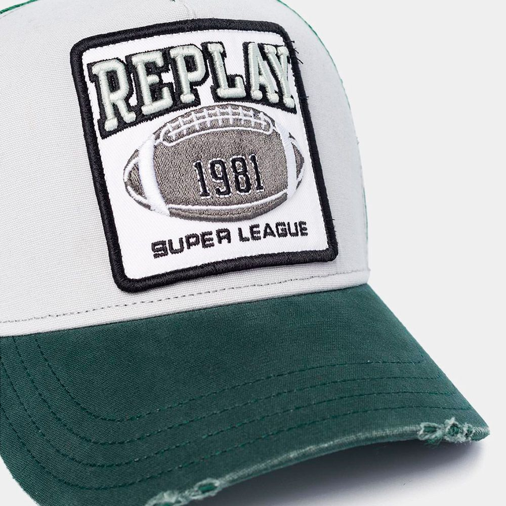 Replay Gorra Trucker Green/grey