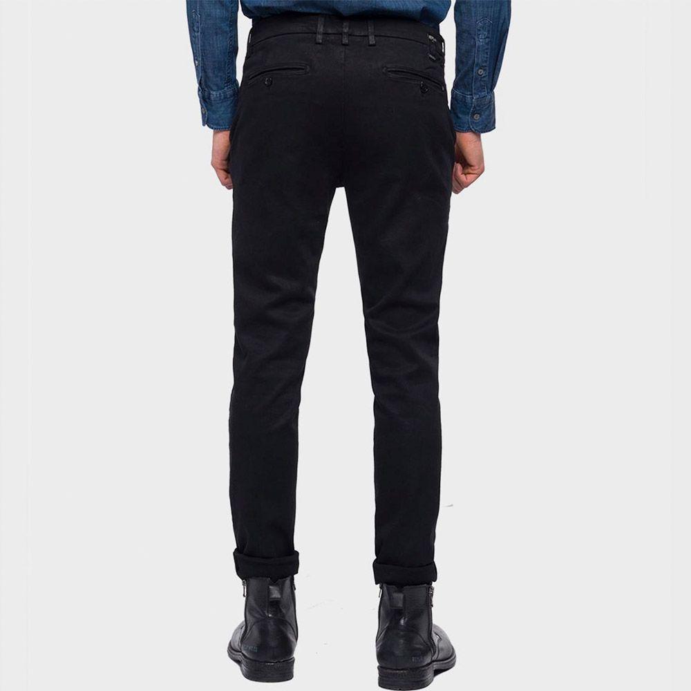 Replay Pantalón Zeumar Negro